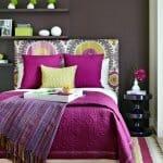 Спалня в ярки цветове