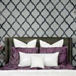 Спалня с фигурален тапет