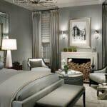 Луксозна спалня в сиво