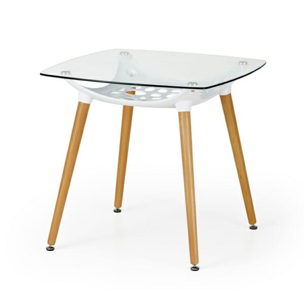 Малка трапезна маса със стъклен плот
