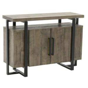 Масивен дървен шкаф и конзола в едно