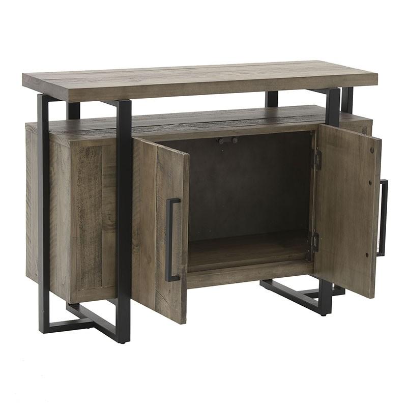 Масивен дървен шкаф и конзола в едно - отворен