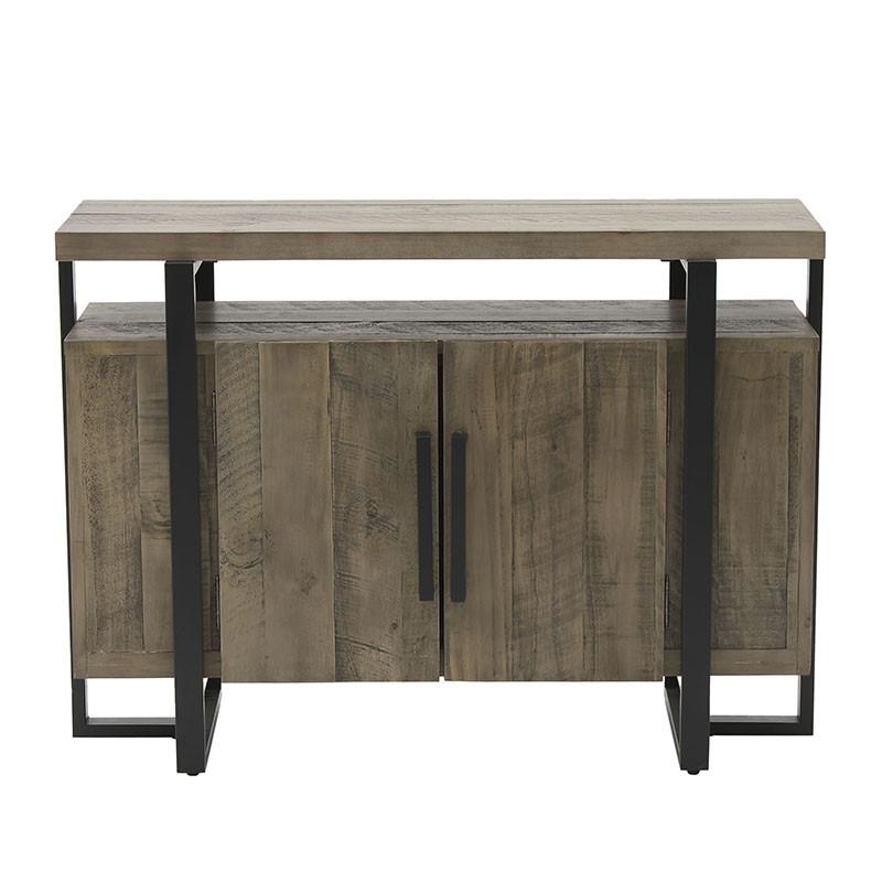 Масивен дървен шкаф и конзола в едно - отпред