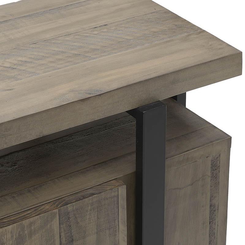 Масивен дървен шкаф и конзола в едно - отблизо