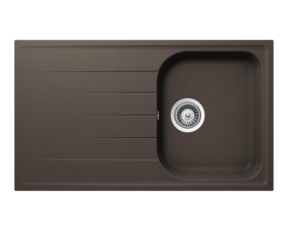 Черна мивка за кухня SCHOCK Viola D100 - цвят Mocha