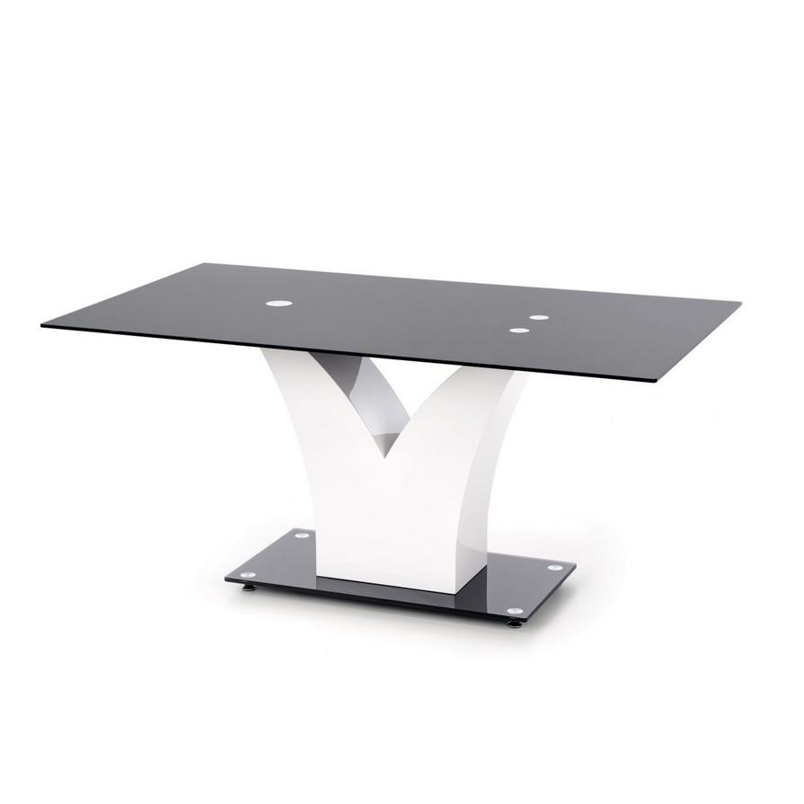 Модерна маса за хранене в черно и бяло