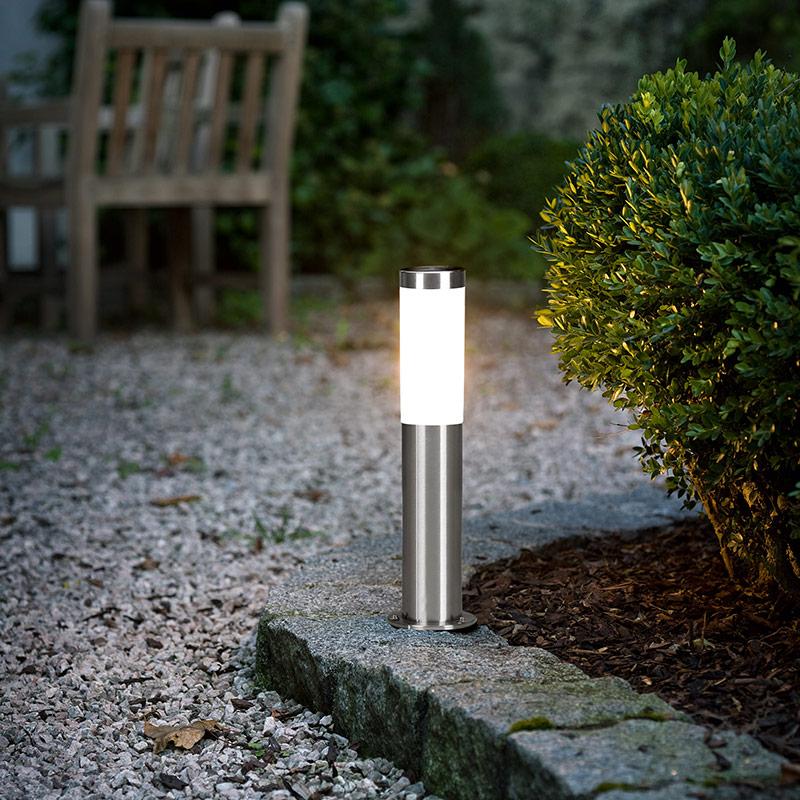 Модерна ниска градинска лампа със сензор серия Helsinki-монтирана