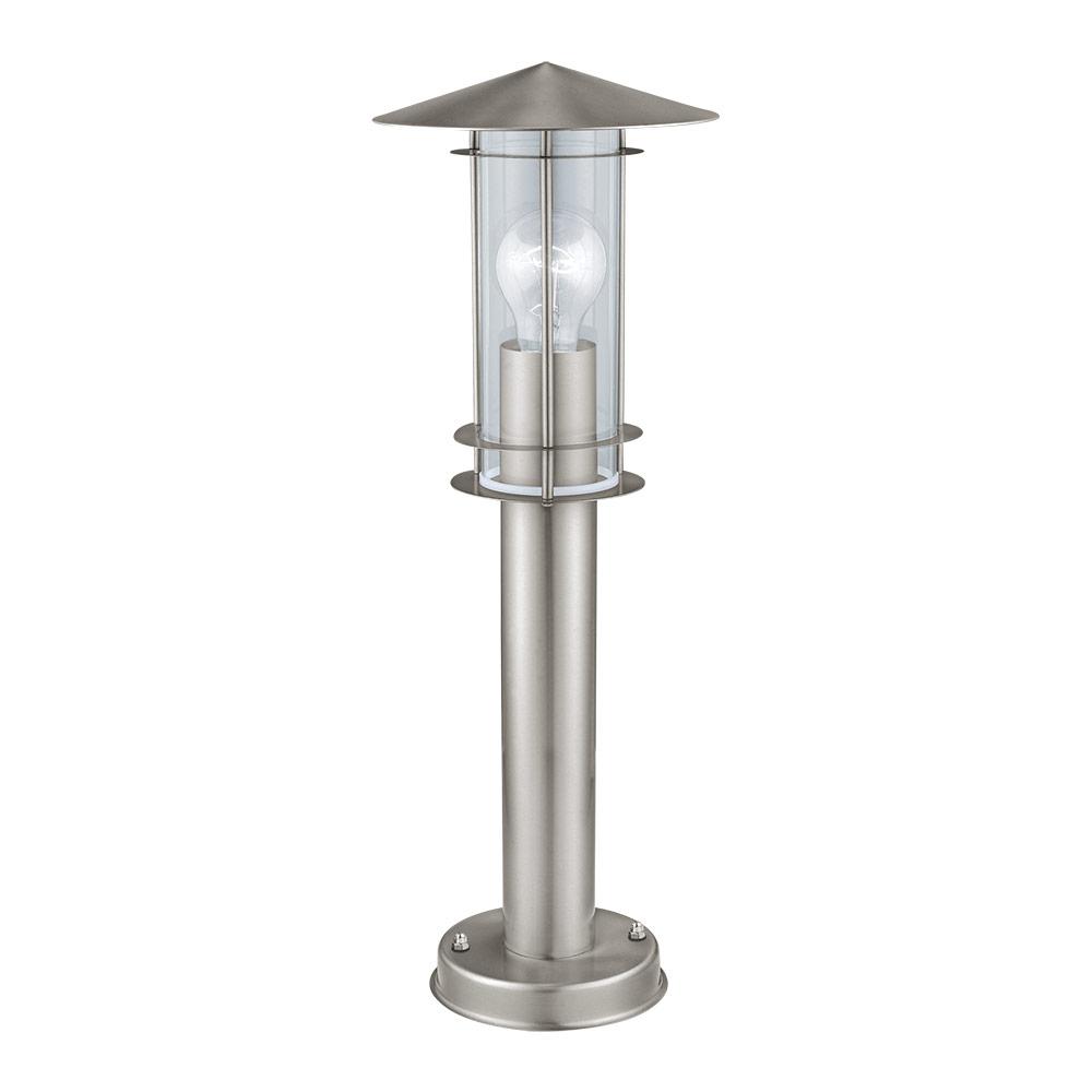 Ниска градинска лампа в цвят инокс серия Lisio