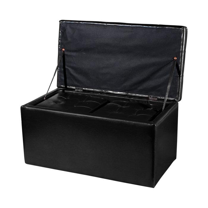 Пейка с ракла в черен цвят - отворена