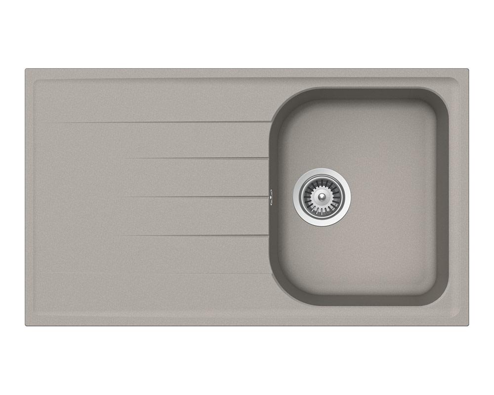 Сива мивка за кухня SCHOCK Viola D100 - цвят concrete/beton