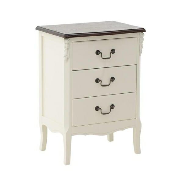 Стилен дървен шкаф с 3 чекмеджета