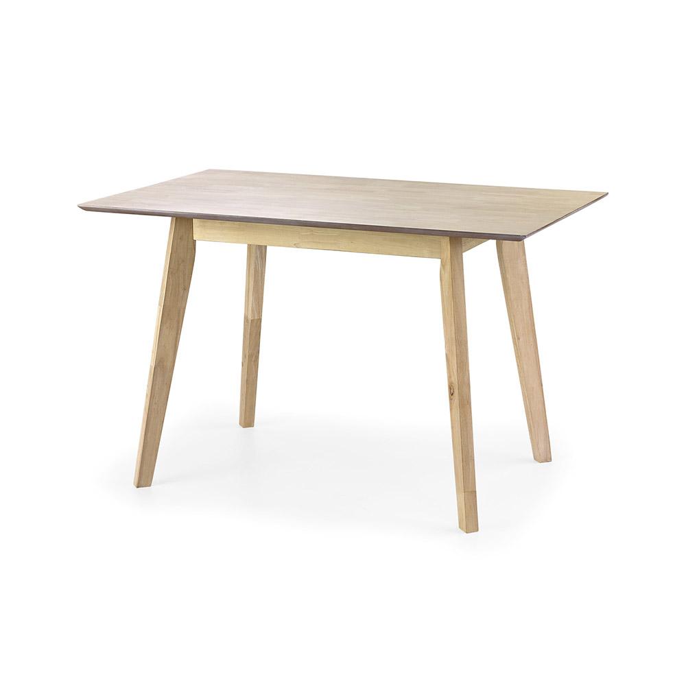 Компактна трапезна маса от светло дърво