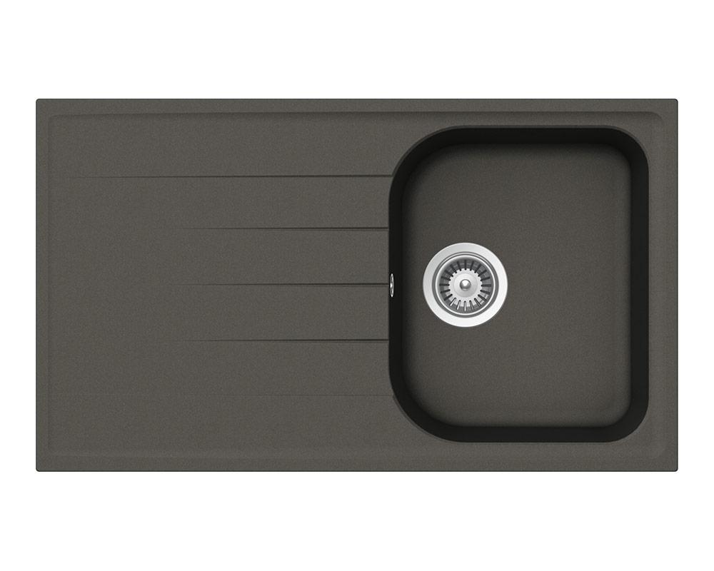 Мивка за кухня в тъмен цвят SCHOCK Viola D100 - цвят Asphalt