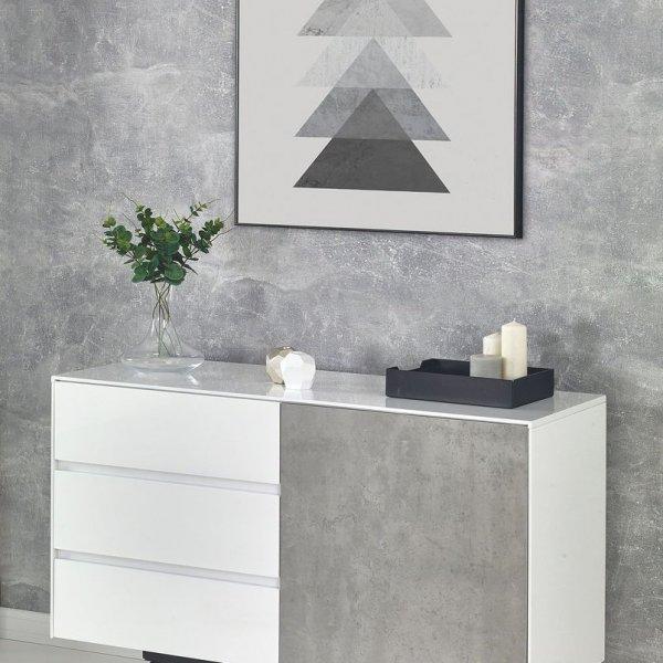 Шкаф с чекмеджета и вратичка Concrete