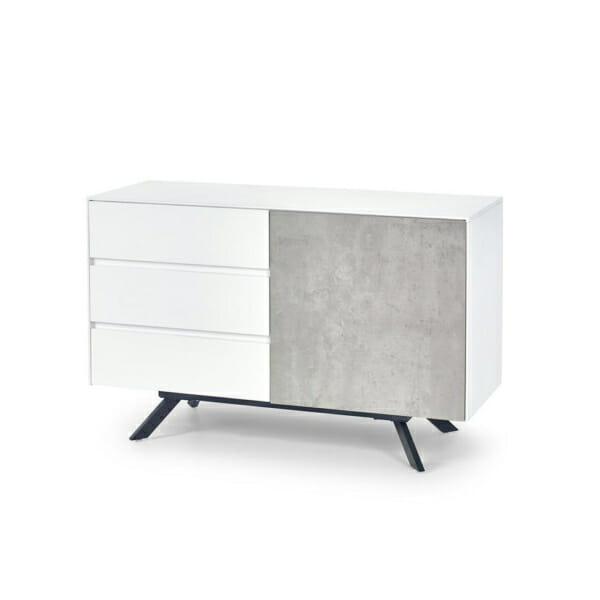 Шкаф с 3 чекмеджета и вратичка Concrete