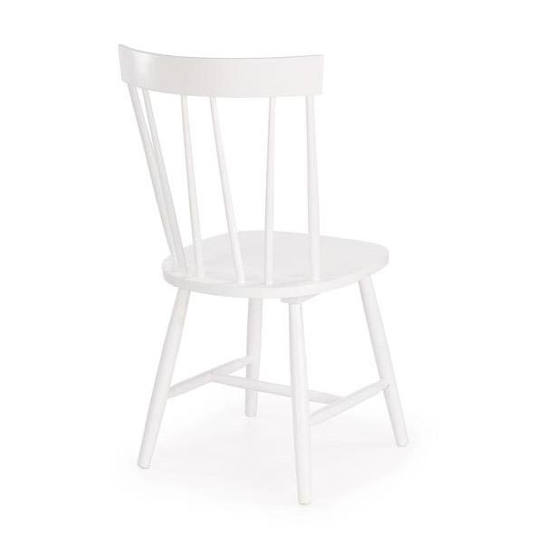 Бял трапезен стол Чарли - снимка отзад