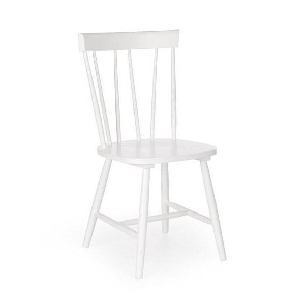 Бял трапезен стол Чарли