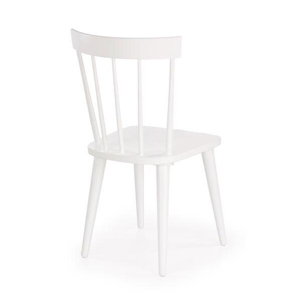 Бял трапезен стол с висока облегалка Челси-снимка отзад