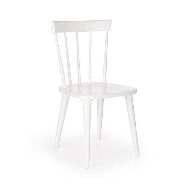 Бял трапезен стол с висока облегалка Челси
