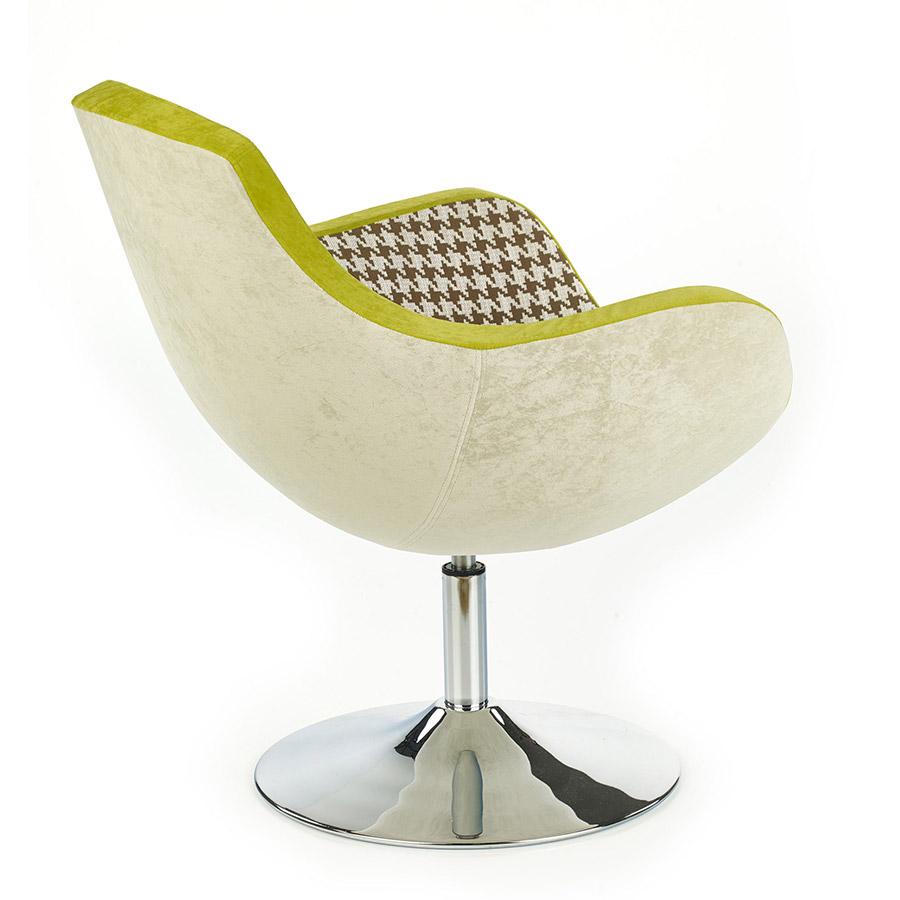 Въртящо се пачуърк кресло с възглавница-снимка отзад