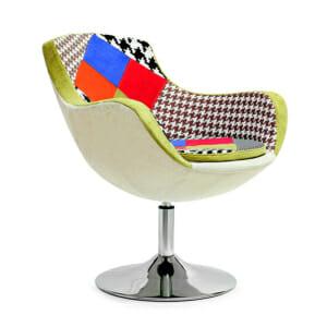 Въртящо се пачуърк кресло с възглавница