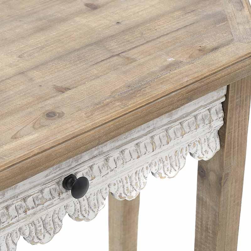 Дървена конзола за антре във винтидж стил