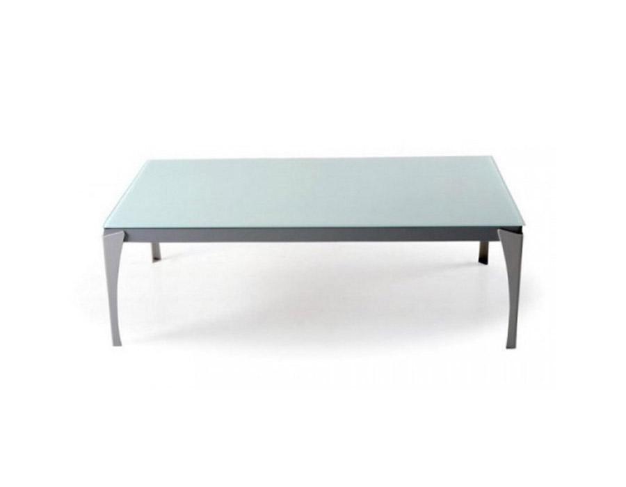 Класическа холна маса със стъклен плот и метални крака-1