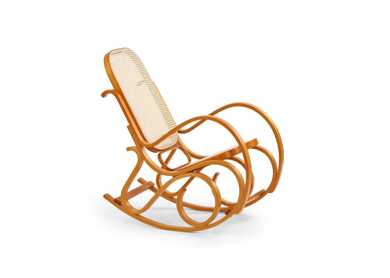 Класически люлеещ се стол - цвят елша