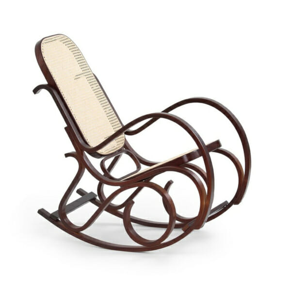 Класически люлеещ се стол цвят орех