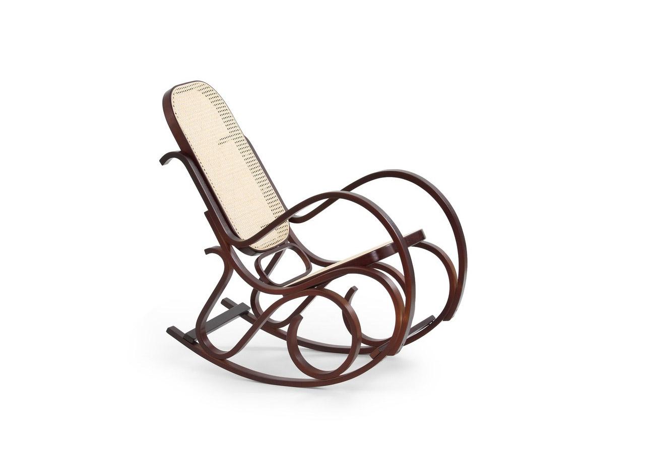 Класически люлеещ се стол - цвят орех