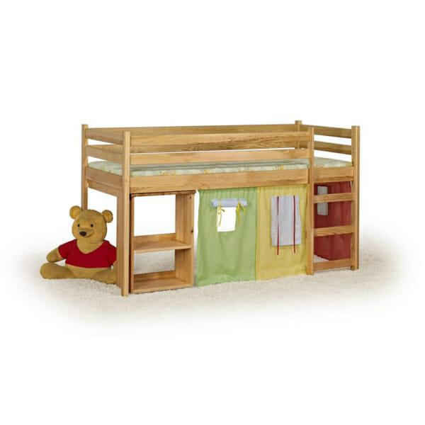 Къщичка за детска стая, легло и изтеглящо се бюро за игра в едно