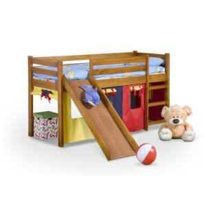 Къщичка за детска стая, легло и пързалка в едно