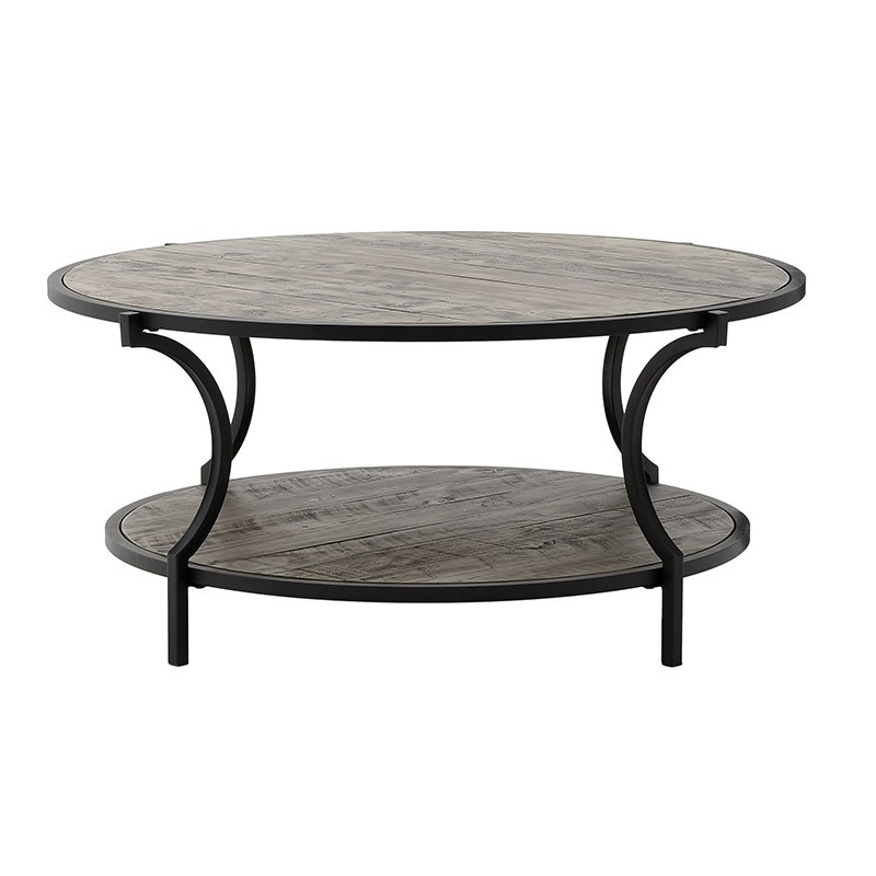 Масивна кръгла маса за хол