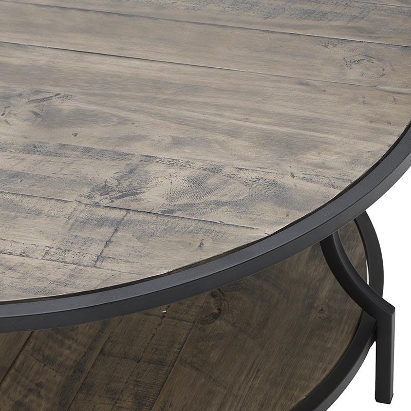 Масивна кръгла маса от дърво