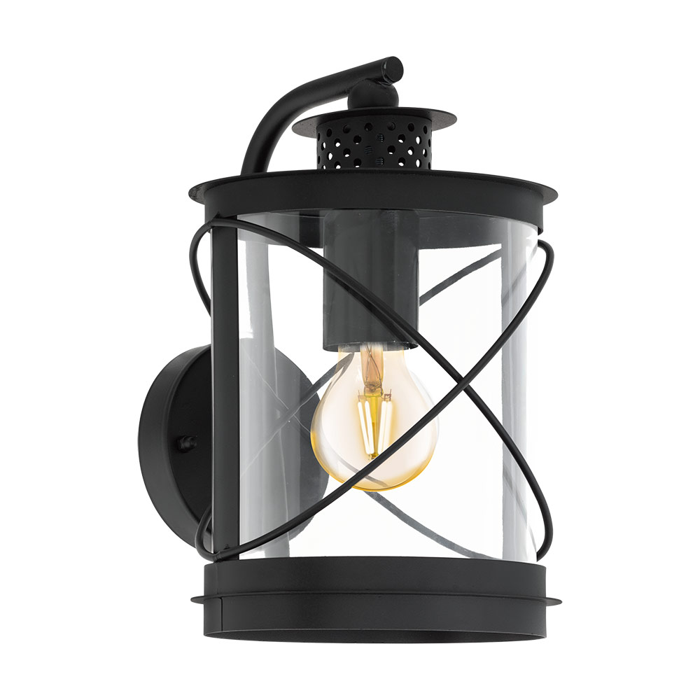 Метален фасаден аплик тип фенер серия Hilburn - Вариант 2