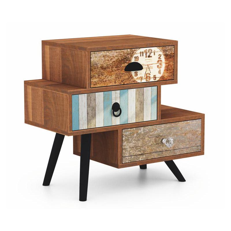 Нестандартно нощно шкафче с 3 чекмеджета серия Max