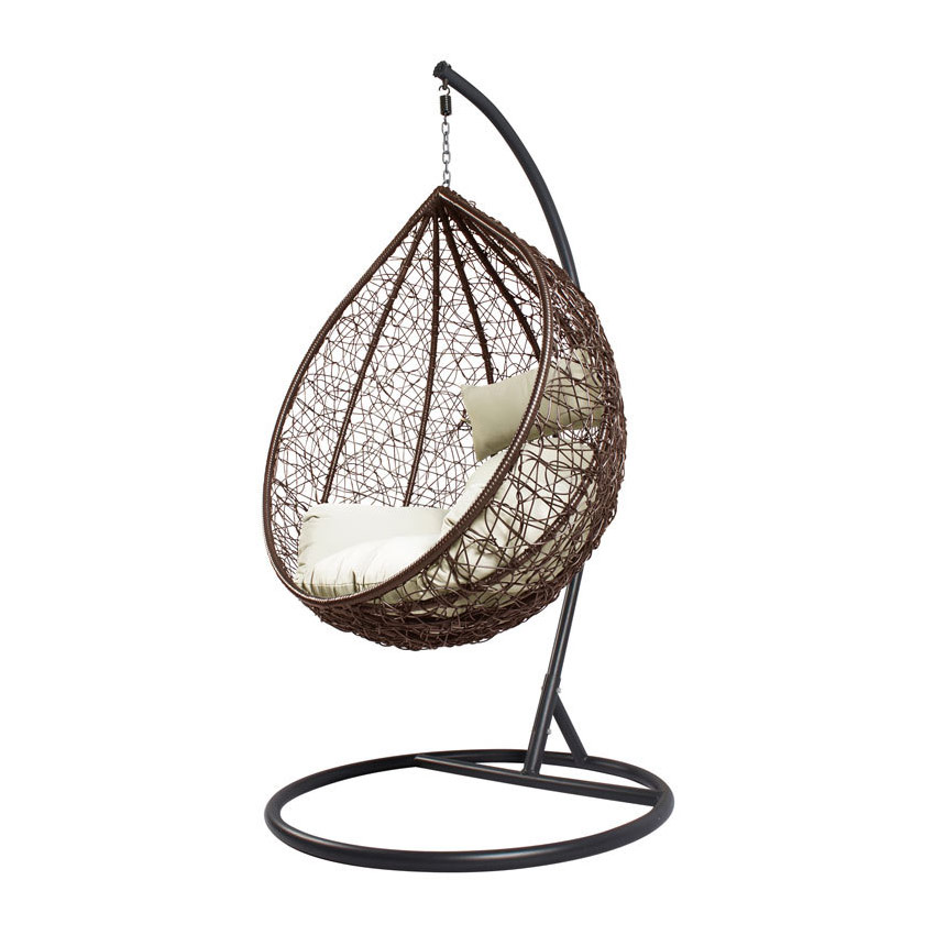 Ратанова градинска люлка с възглавница