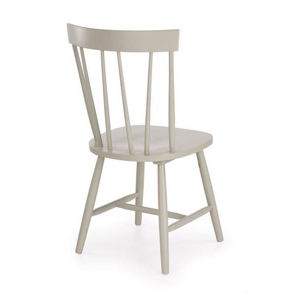 Сив трапезен стол Чарли - снимка отзад