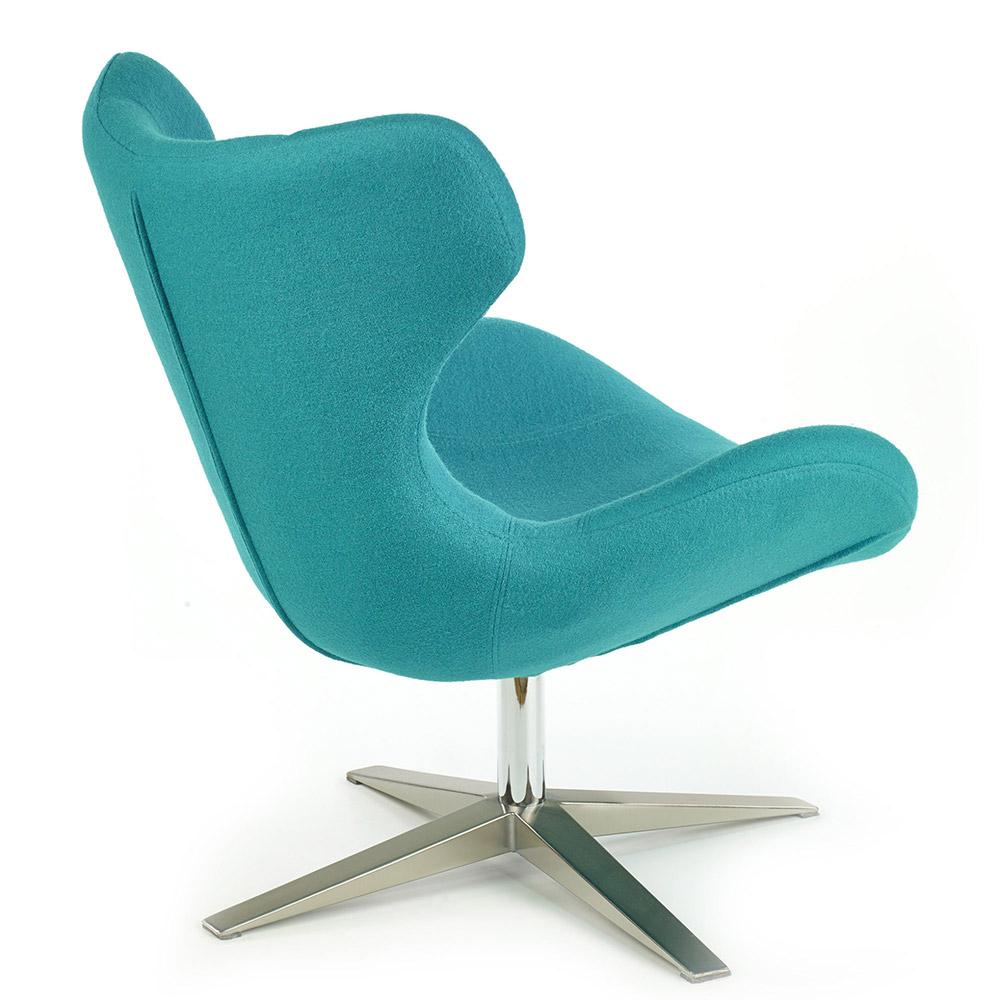 Стол за релакс Блейзър - цвят тюркоаз, снимка отзад