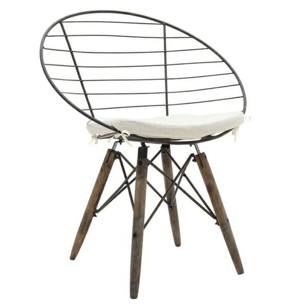 Стол от дърво и метал в индустриален стил