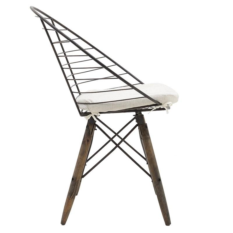 Стол от дърво и метал в индустриален стил - отстрани