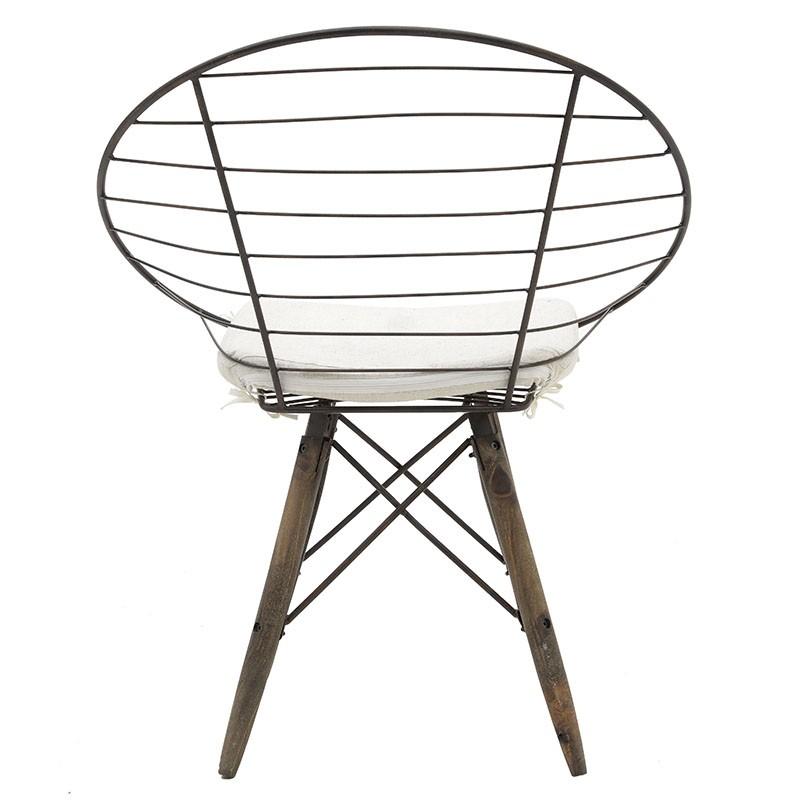 Стол от дърво и метал в индустриален стил - отзад