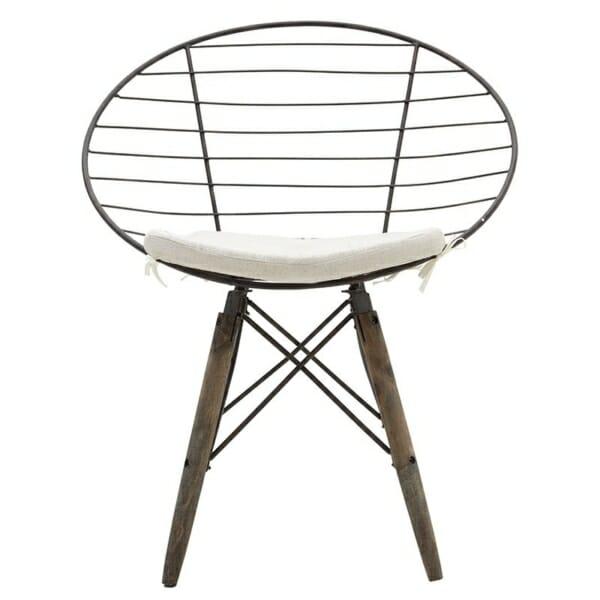 Стол от дърво и метал в индустриален стил - отпред