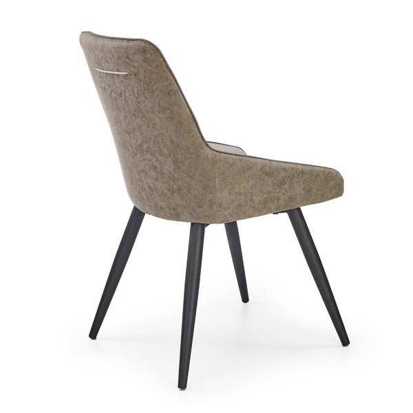Стол от еко кожа в стил мид-сенчъри модърн-снимка отзад