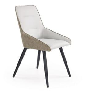 Стол от еко кожа в стил мид-сенчъри модърн