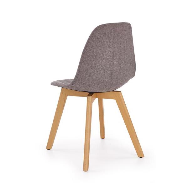 Сив трапезен стол в скандинавски стил Кели-снимка отзад