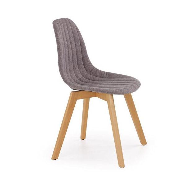 Сив трапезен стол в скандинавски стил Кели