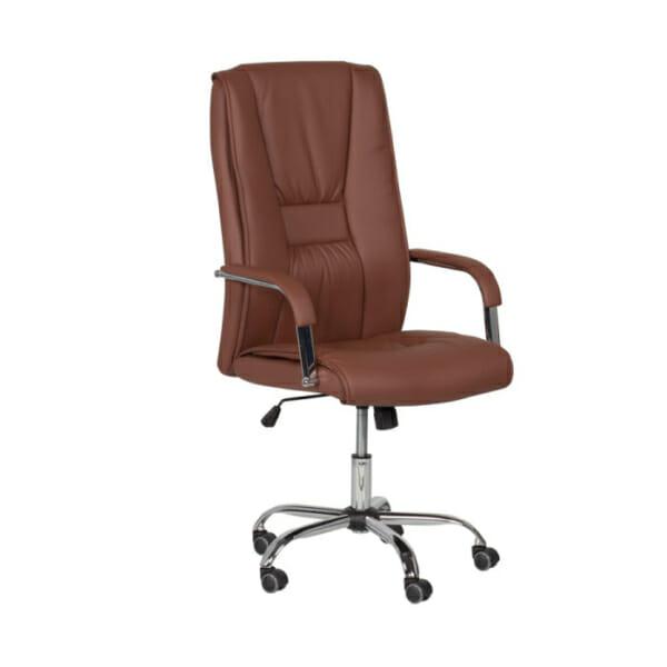 Директорски офис стол от еко кожа-цвят клей