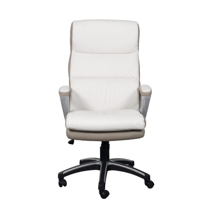 Елегантен директорски стол от еко кожа-снимка отпред