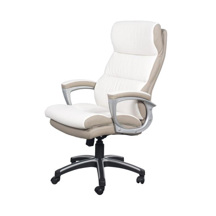 Елегантен директорски стол от еко кожа-снимка отстрани